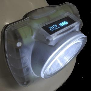 Lanterna Dunamis 232 Raclite Mineiro de Cabeça e Capacete para Mineração Recarregavel Potente