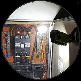 refletor com base magnetica